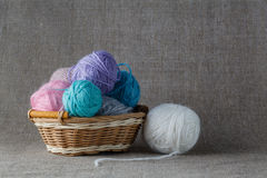 Clews of colored yarn Stock Photography