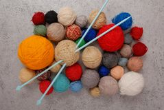 Clews of thread stock photography