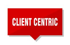 Cliënt centric rode markering vector illustratie