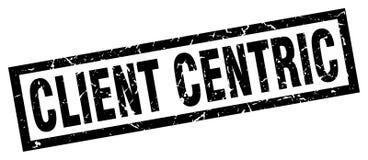 Cliënt centric zegel stock illustratie