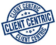 Cliënt centric zegel vector illustratie
