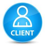 Cliënt (lidpictogram) elegante cyaan blauwe ronde knoop Royalty-vrije Stock Afbeelding