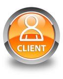 Cliënt (lidpictogram) glanzende oranje ronde knoop Royalty-vrije Stock Fotografie