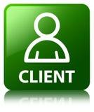 Cliënt (lidpictogram) groene vierkante knoop Stock Afbeeldingen