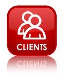 Cliënten (groepspictogram) speciale rode vierkante knoop Stock Foto's