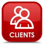 Cliënten (groepspictogram) speciale rode vierkante knoop Royalty-vrije Stock Afbeeldingen