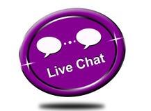 Clic chating in tensione di colore viola rotondo dell'estratto illustrazione vettoriale