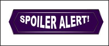 Clic coloré de bouton de Web d'alerte de spoiler, application Photo stock