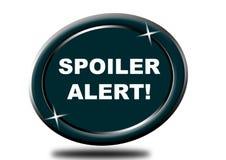 Clic coloré de bouton de Web d'alerte de spoiler, application Image libre de droits