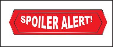 Clic coloré de bouton de Web d'alerte de spoiler, application Photo libre de droits