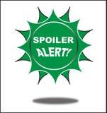 Clic coloré de bouton de Web d'alerte de spoiler, application Images libres de droits