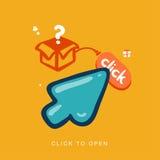 Clic da aprirsi Fotografia Stock