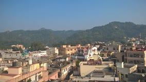 Clicado no telhado para ver a cidade da manhã fotos de stock