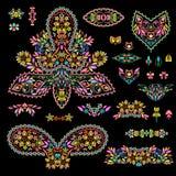 Cliché etnico della Boemia luminoso con Paisley e gli elementi decorativi Fotografia Stock Libera da Diritti