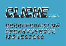 Cliche vector decorative bold font design, alphabet, typeface, t Stock Images