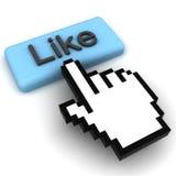click кнопки любит Стоковое Фото