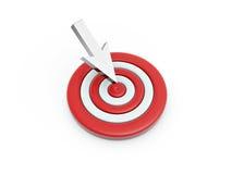 цель стрелки click Стоковое Изображение RF