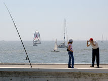 CLICK. Tourists at Belém, Lisbon,Portugal,E.U Stock Images