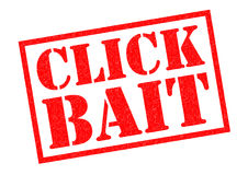 CLICK BAIT Rubber Stamp Stock Images