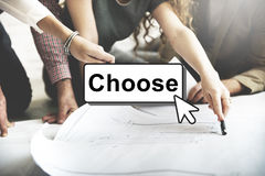 Click Choose Add Button Interface Concept stock photo