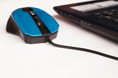 Click computer mouse earn money Stock Photography