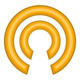 Click cursor icon, cartoon style Royalty Free Stock Photos