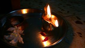 Diya Oil Lamp. A click of diya oil lamp traditional Hindu ritual light which is used in various Indian festivals like Diwali stock photo