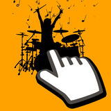 Click on drummer Stock Images