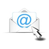 Click e-mail Royalty Free Stock Images