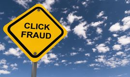 Click fraud sign Royalty Free Stock Photography