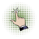 Click hand comics icon. On a white background Royalty Free Stock Photo