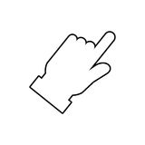 Click hand cursor. Icon  illustration graphic design Royalty Free Stock Images