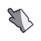 Click hand cursor. Icon  illustration graphic design Stock Image
