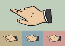 Click Hand Gesture on Different Color Background Royalty Free Stock Images