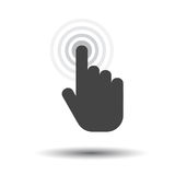 Click hand icon. Cursor finger sign flat vector. Illustration on white background Stock Image