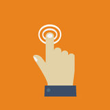 Click. Hand icon pointer. Stock Photography
