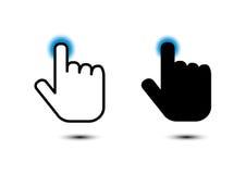 Click hand icon pointer. On white background Stock Photo