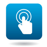 Click hand icon in simple style Stock Image