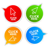 Click here Royalty Free Stock Photo