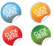 Free Click Here Button Royalty Free Stock Photos - 46667038