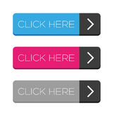 Click Here button set Royalty Free Stock Photos