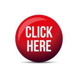Click Here button. Vector red Stock Images