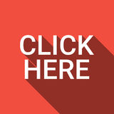 Click Here Button Web Icon Royalty Free Stock Photos