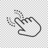 Click here icon. Hand cursor signs Royalty Free Stock Images