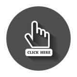 Click here icon. Stock Photos