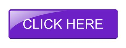 Click here. Web purple button icon on isolated white background - editable vector illustration vector illustration