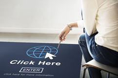 Click Here Website Web Page Online Internet Concept Royalty Free Stock Photos