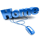 Click Home royalty free illustration