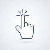 Click icon stock vector illustration flat design. Hand click icon vector illustration eps10.  badge for website or app - stock infographics Stock Photo