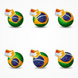 Click like Icon Ball brazil you re like the team Royalty Free Stock Photo